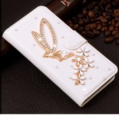 Rhinestone Women's Wallet Style PU Leather Case for Huawei Y7 Prime Phone Cases Flip Cover for Huawei Enjoy 7 Plus - intl