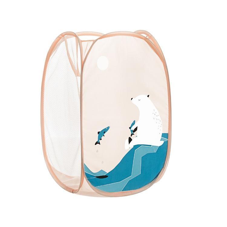 RHS Online 50x35x35 Cm Folding Laundry Basket Pakaian Kotor Keranjang Penyimpanan-Intl