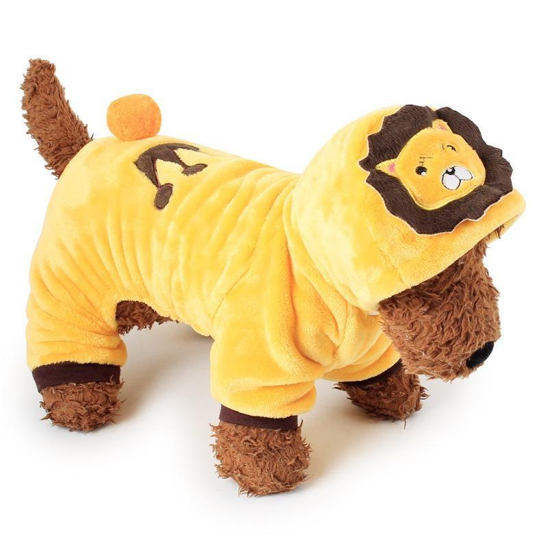 RHS Online Singa Hoodie Anjing Peliharaan Kostum Pakaian Peliharaan Mantel Sweter Ukuran S-Internasional