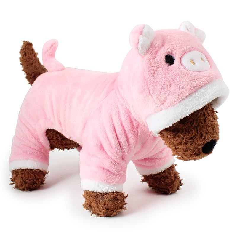 RHS Online Pig Hoodie Pet Dog Costume Clothes Pet Coat Sweater Size XS - intl