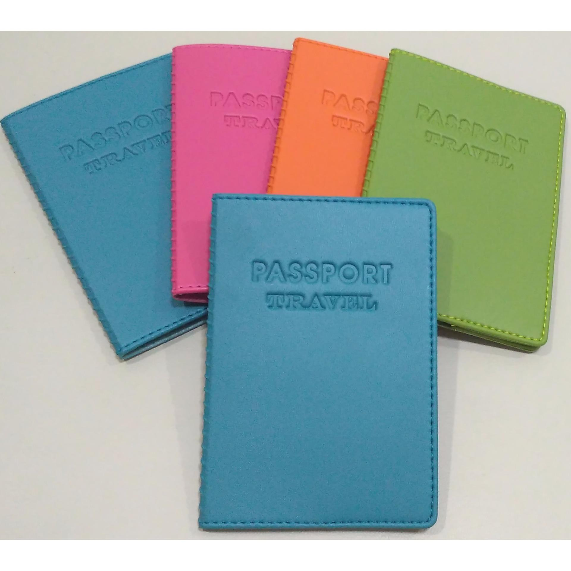Drenbellony Passport Holder Red Dompet Paspor Cover Tempat Universal Colorful Korea Sampul Biru Source
