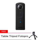 Toko Ricoh Theta S Spherical Digital Camera 360° Gratis Table Tripod Fotopro Murah Indonesia
