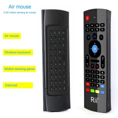 Rii MX3-M Air Mouse Mini Gaming Keyboard Infrared Remote Control For Gaming PC Smart TV - intl