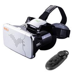 RITECH Riem 3 Virtual Reality 3D VR Glasses Head MountedHeadsetPrivate Theater for 3.5 - 6 inches Smartphone With BluetoothRemoteControl(Silver) - intl