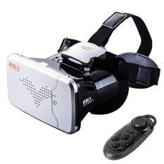 RITECH Riem 3 Virtual Reality 3D VR Kacamata Kepala Dipasang Headset Pribadi Theater untuk 3.5-6 Inches Smartphone dengan Bluetooth Remote Control (silver) -Intl