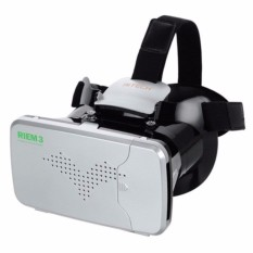 Jual Ritech Riem 3 Vr Cardboard 3D Virtual Reality 3Rd Generation For Smartphone S4474 White Branded Original