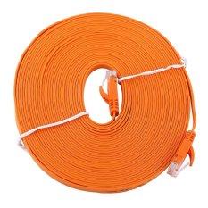 Penawaran Istimewa Rj45 Cat6 Datar Jaringan Ethernet Kabel Lan Utp Kabel Router Koyo 1000 M Oranye 10 M International Terbaru