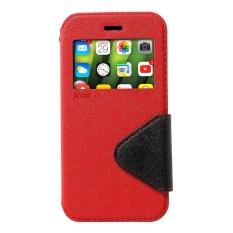 Roar Korea Kulit View Jendela Pelindung Penyangga untuk iPhone X 5.8 Inch-Merah-Intl