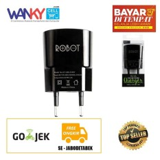 Robot Adapter Charger RT-K1 Mini Size Single USB [5V-1A] - Hitam