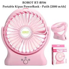 Robot Power Bank / Powerbank RT-BF06 2000mAh Portable Kipas Angin Mini Fan