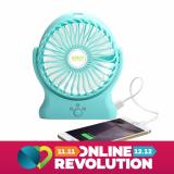 Diskon Robot Power Bank Rt Bf06 2000Mah Portable Kipas Angin Mini Fan Robot
