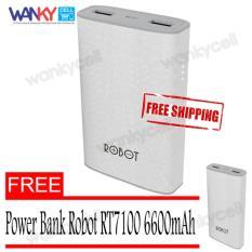 Miliki Segera Robot Power Bank Rt7100 6600Mah By Vivan Dual Output Putih Free Power Bank Robot 6600Mah