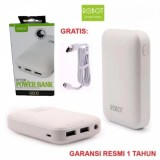 Beli Robot Power Bank Rt7200 6600Mah By Vivan Dual Output Putih Dengan Kartu Kredit