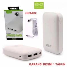 Jual Robot Power Bank Rt7200 6600Mah By Vivan Dual Output Putih Online Di Indonesia