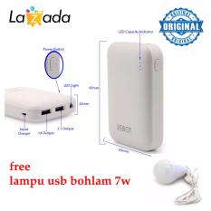 Spesifikasi Robot Power Bank Rt7200 6600Mah Dual Output Original Putih Universal Led Bulb Bohlam 7 Watt Kabel Usb Energy Saving Yg Baik
