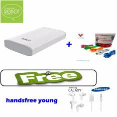 Beli Robot Powerbank Rt7100 6600Mah 1 Tahun Garansi Power Bank Dual Output 2X Kabel Vivan Free Handsfree Wonder Young Putih Vivan Asli