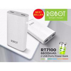 Diskon Robot Powerbank Rt7100 6600Mah Power Bank White Robot