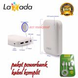 Jual Beli Robot Powerbank Rt7200 6600Mah Power Bank Dual Output Original Robot Tpe600 Cable Set Micro Usb With 3 Type Connector Putih Dki Jakarta