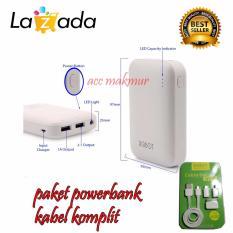 Promo Robot Powerbank Rt7200 6600Mah Power Bank Dual Output Original Robot Tpe600 Cable Set Micro Usb With 3 Type Connector Putih Dki Jakarta
