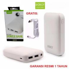 Robot Powerbank Rt7200 6600mAh-Putih