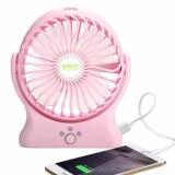 Promo Toko Robot Rt Bf06 2000Mah Power Bank 330 Degree Rotatable Usb Mini Fan Pink