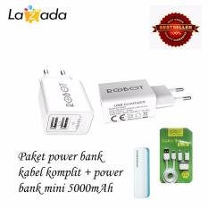 Perbandingan Harga Robot Rt C04S Dual Usb Adapter Adaptor Dual Usb Adaptor Usb Charger Original Putih Robot Tpe600 Cable Set Micro Usb With 3 Type Connector Putih Power Bank 5000Mah Di Dki Jakarta