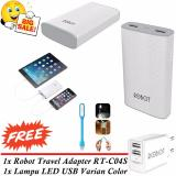 Beli Robot Smart Power Powerbank Rt7100 6600Mah Free Robot Travel Adapter Rt C04S Free Lampu Led Usb Variant Color Cicilan