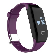 robxug Fitness Tracker with Heart Rate Monitor Activity Watch Step Walking Sleep Counter Wireless Wristband Pedometer Exercise Tracking Sweatproof Sports Bracelet for Android and IOS Purple - intl