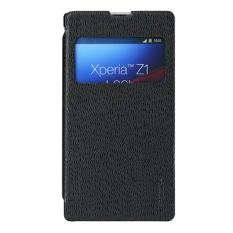 Harga Rock Excel Series Flip Leather Case For Sony Xperia Z1 Hitam Terbaik