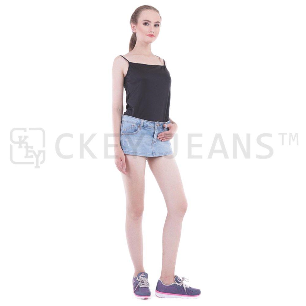 Beli Rok Celana Jeans Denim Celana Pendek Biru Ck 555 102 Murah