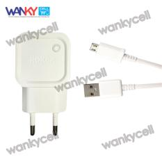 Toko Roker Travel Charger Rk C01 With Kabel Data Fast Charging 2 1A Micro Android Putih Termurah Di Jawa Barat