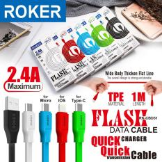Roker Flash RK-CBD31 Kabel Data Charger 2.4 Ampere for Micro Usb