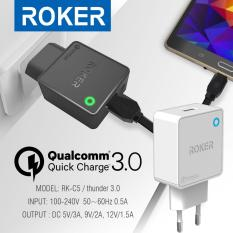 Harga Roker Thunder Travel Charger Qualcomm Quick Charge 3 Single Rk C5 Singleusb Terbaru