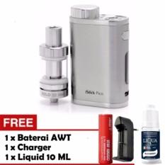 Kualitas Rokok Elektrik Vape Vapor Eleaf Istick Pico 75 Watt Silver Free Liquid Baterai Awt Charger Single Slot Eleaf