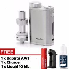 Rp 226.885. Rokok Elektrik Vapor Eleaf iStick Pico Starter Kit 75 Watt Full Silver Limited Edition + Free Liquid + Baterai AWT + Charger ...