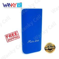Roles R20 Power Bank 8000mAh LED Indicator - Biru