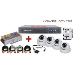 Romantis Simiou 3 Dalam 1 Terbaru 4 Channel AHD + DVR + NVR CCTV P2P Jaringan Hdrecorder Set C + 1 TB Hardisk-Internasional