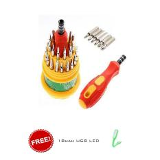 Ronaco Obeng Set Multi 31 In 1 Screwdriver Handphone Elektronik HP Laptop PC SAmsung Iphone Repair Reparasi Service 32 In 1 Set Pertukangan 31in1 Home Stuff