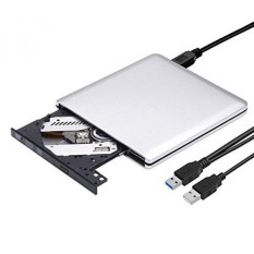 ROOFULL External DVD Drive USB 3.0 Slim Portable CD DVD +/-RW Optical Drive Burner Writer Player for Windows 10 8 7 Laptop Computer PC of HP Dell LG Asus Acer LG Asus Lenove Thinkpad (Silver) - intl