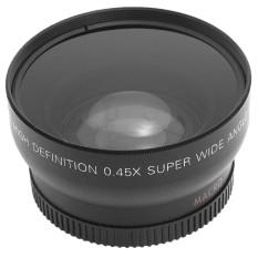 Rooroom 58 Mm 0.45X Fisheye Makro Sudut Lebar Lensa untuk Nikon (Hitam)-Intl