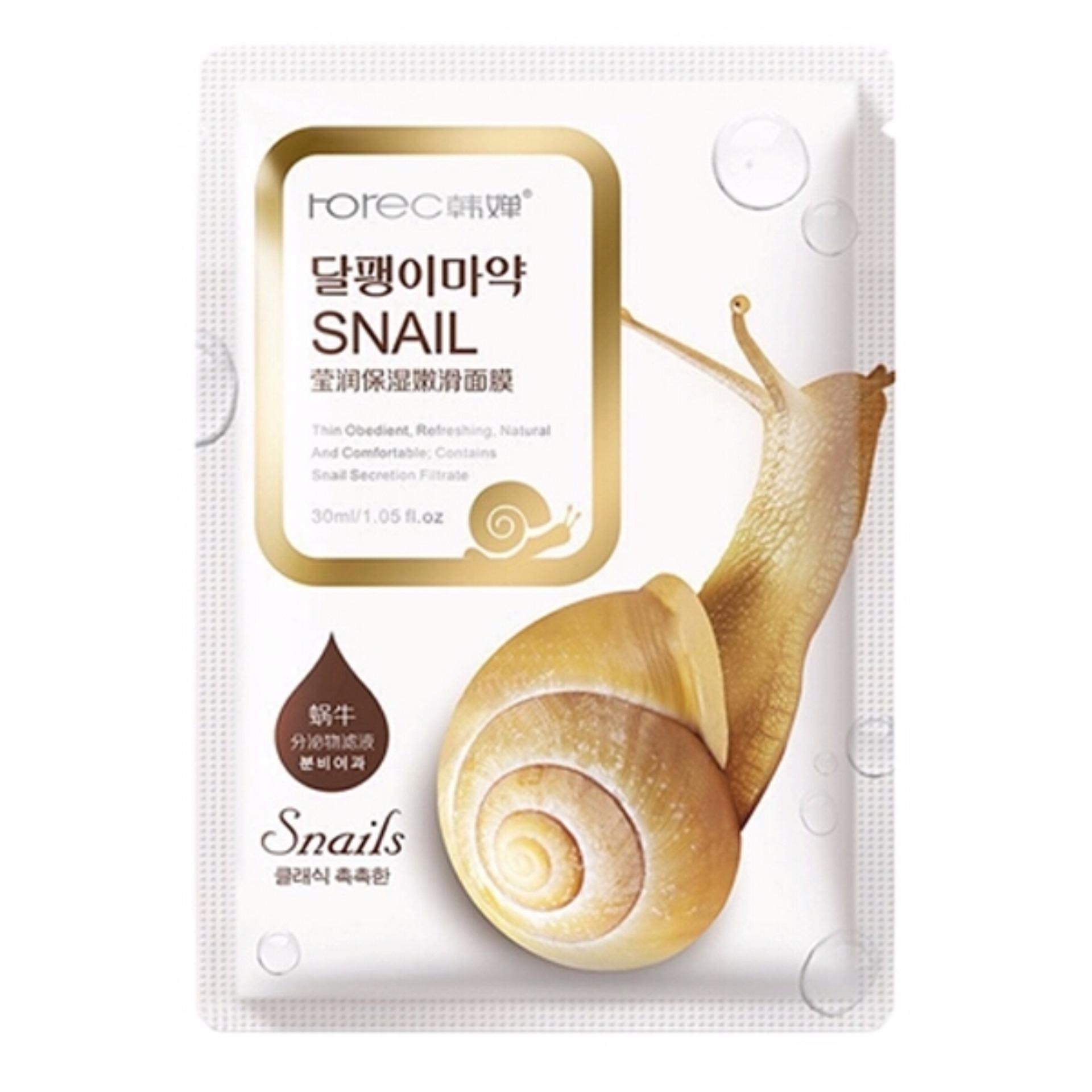 Rorec Masker Wajah Snail Dope Whitening Alami