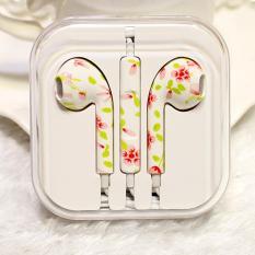 Jual Rorychen Dicetak Dengan Gandum Thread Asli Wimerah In Ear Earphone Untuk Apple Aku Ponsel 5 5 C 5 S 6 6 S 6 Plus 6 S Murah Tiongkok