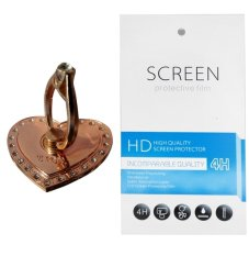 RoseGold Love Ring Stand (firmly stick on phone / phone cover case) + Gratis 1 Clear Screen Protect