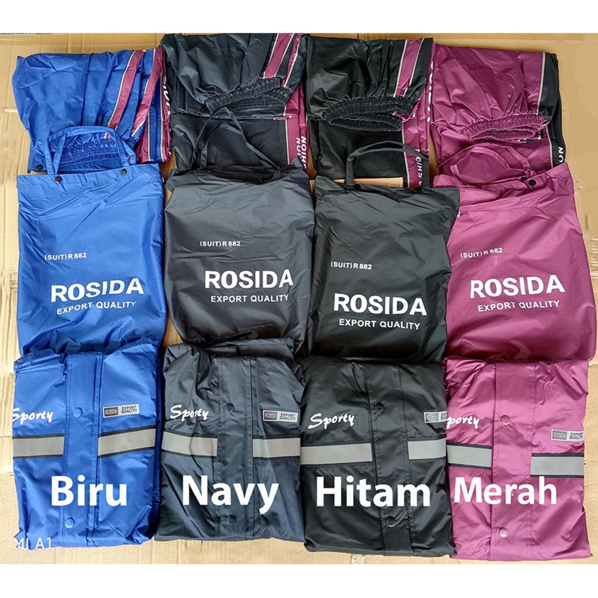 Harga Rosida Jas Hujan Stelan Jaket Celana 2 Lapis Desain Sporty Tipe R882 Suit Rosida Baru