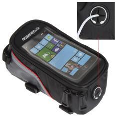 Spesifikasi Roswheel Tas Sepeda Waterproof Untuk 5 5 Inch Smartphone Black Murah