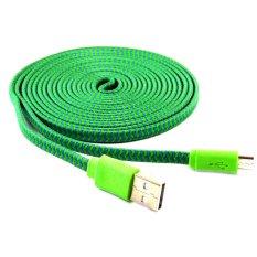 Ulasan Lengkap Tentang Rotamart Kabel Charging Micro Usb Tali Sepatu 3 Meter Hijau Ungu
