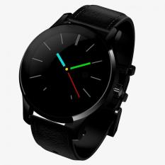 Iklan Round Bluetooth Smart Watch K88H Heart Rate Monitor Wristwatch With Remote Camera Clock For Android And Ios Phone Black