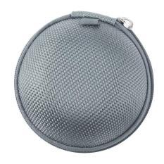 Review Round Berbentuk Carrying Hard Case Penyimpanan Tas Untuk Earphone Earbuds Dengan Mesh Pocket Zipper Enclosure Silver Oem Di Tiongkok