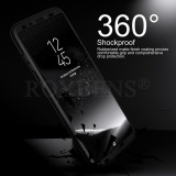 Beli Roybens 360 Degree Full Body Protect Hard Slim Case Cover With Screen Protector For Samsung Galaxy S8 Plus Black Intl