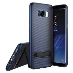 Review Tentang Roybens Carbon Fiber Soft Tpu Ultra Thin Case Screen Protector Cover For Samsung Galaxy S7 Edge Blue Intl